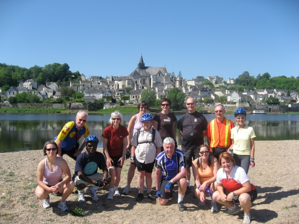 Biking at Candes-Saint-Martin, France, along the Vienne River