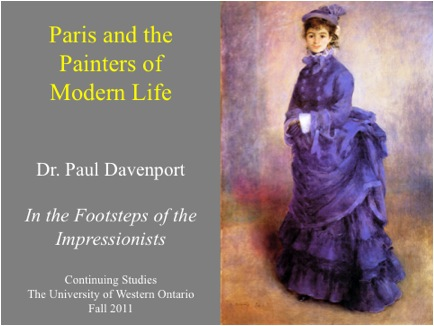 The University of Western Ontario Continuing Studies course on Impressionism