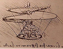 Da Vinci sketch of helicopter at Clos-Lucé